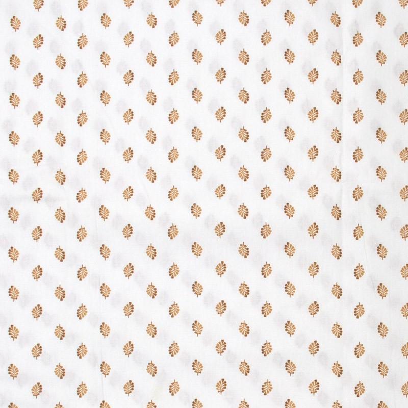Estilotex - Folhas Laranja Com Fundo Branco - 50cm x 150cm