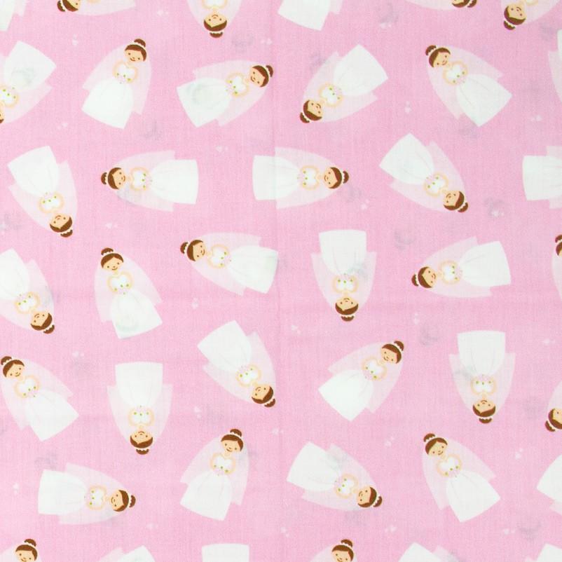 Estilotex - Noivas Com Fundo Rosa - 50cm x 150cm