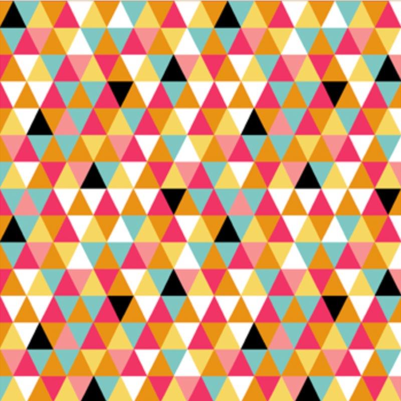Eva e Eva Coleção Bons Amigos - Estampa Triângulos Coloridos - 50cm x 150cm