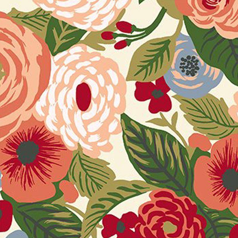 Eva e Eva Coleção Botânica - Estampa Botânica Floral Creme - 50cm x 150cm