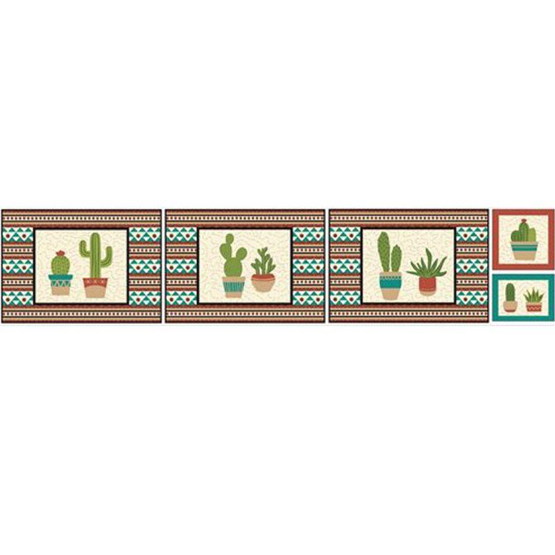 Eva e Eva Coleção Cactus - Estampa Cactos Jogo Americano - 30cm x 150cm