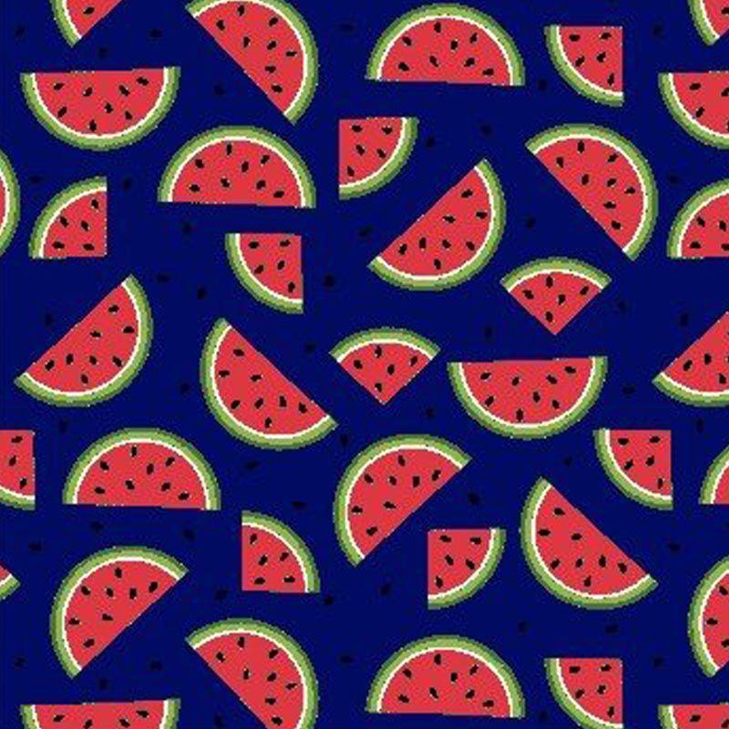 Eva e Eva Coleção Frutas - Estampa Melancia Marinho - 50cm x 150cm