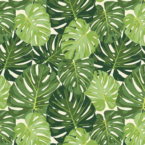 Eva e Eva Coleção Paraíso Tropical - Estampa Costela de Adão Branco - 50cm x 150cm