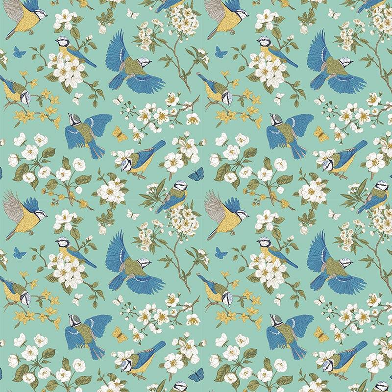 Fabricart - Coleção 116 Colors - Blue Birds - 50cm X150cm