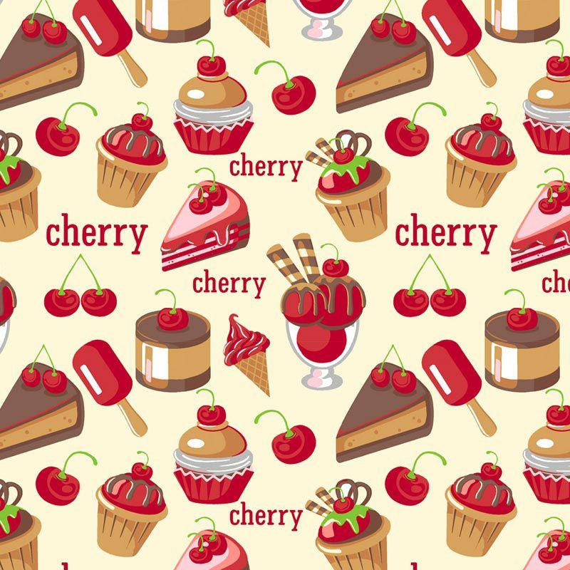 Fabricart - Coleção 116 Colors - Estampa Cherry - 50cm X150cm