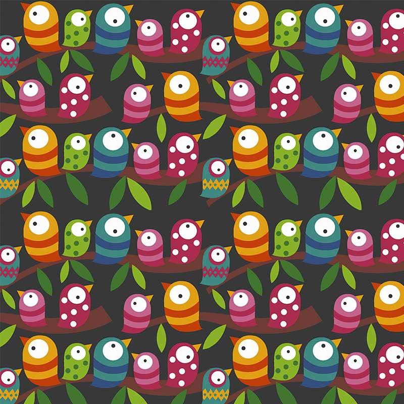 Fabricart - Coleção 116 Colors - Fileira de Pássaros - 50cm X150cm
