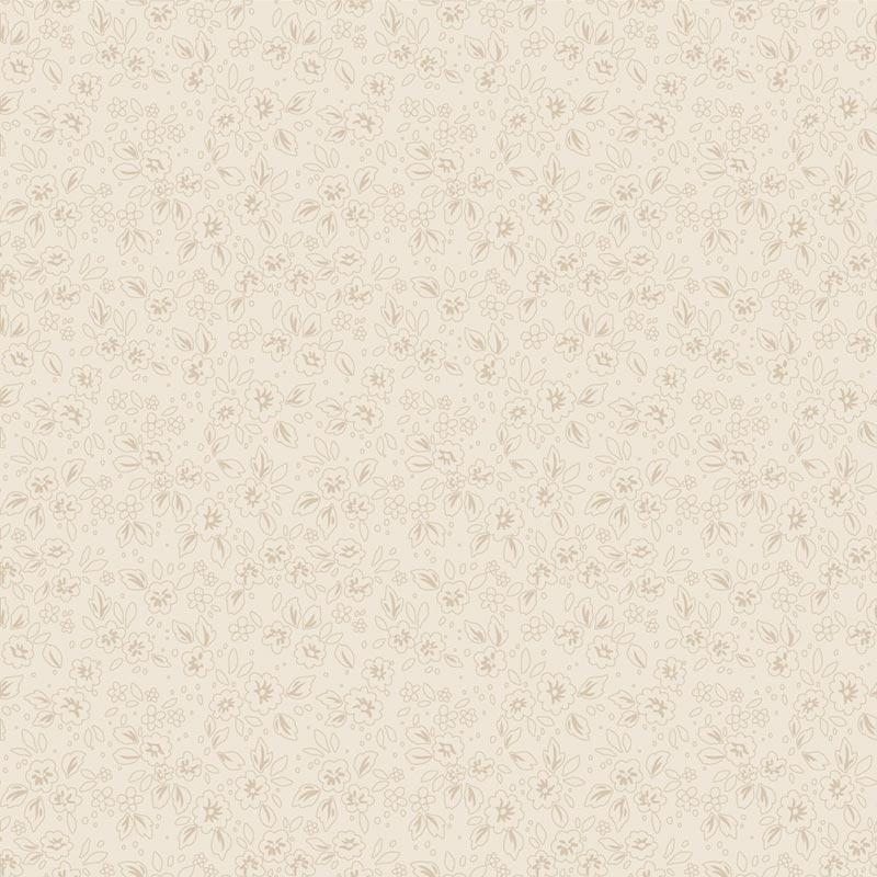 Fabricart Coleção Basics & Colors - Contornos - Creme - 50cm X150cm