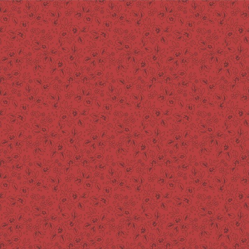 Fabricart Coleção Basics & Colors - Contornos - Sangue - 50cm X150cm