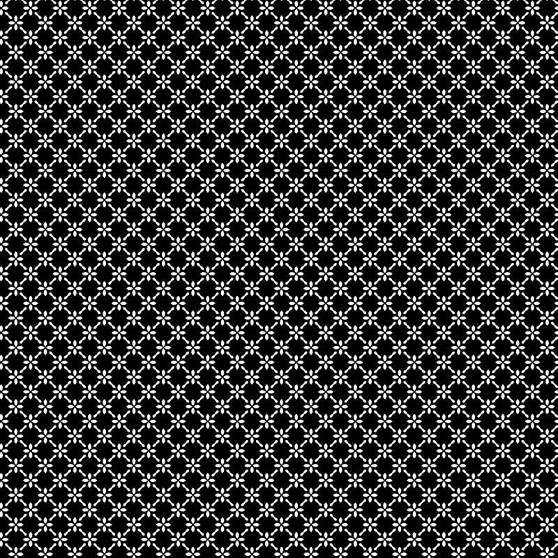 Fabricart Coleção Basics & Colors - Geométricos - Cerca de Flores Preto - 50cm X150cm