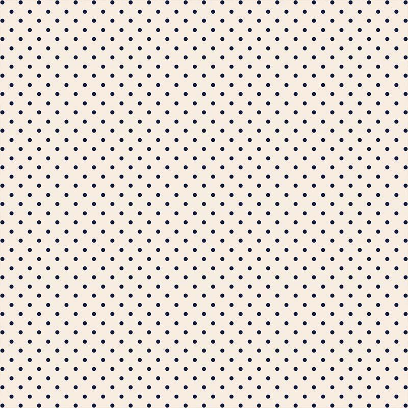 Fabricart Coleção Basics & Colors - Poás - Mini Poá Marinho - 50cm X150cm