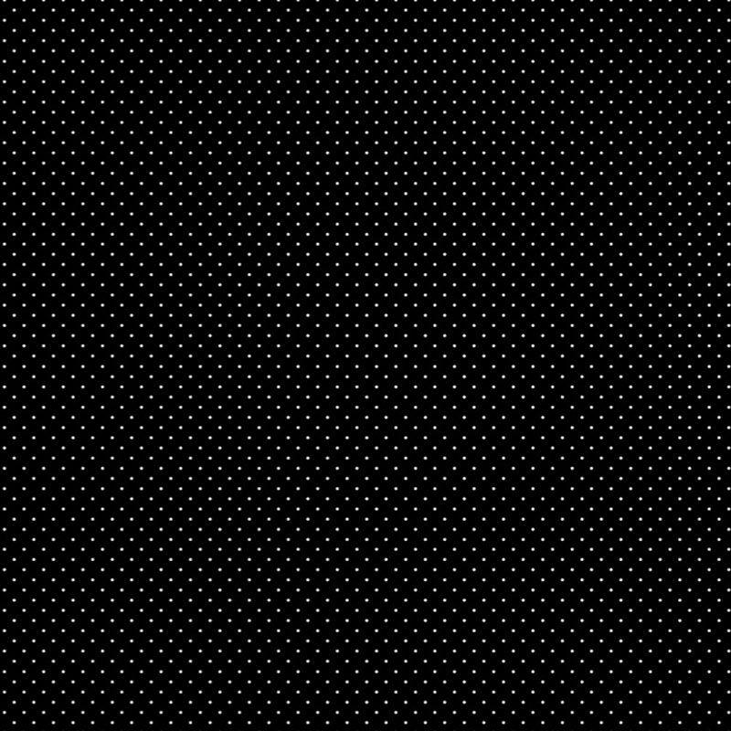 Fabricart Coleção Basics & Colors - Poá Preto - 50cm X150cm