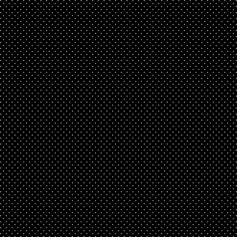 Fabricart Coleção Basics & Colors - Poás - Micro Poá Preto - 50cm X150cm