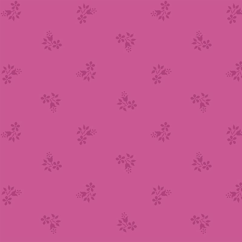 Fabricart Coleção Basics & Colors - Florais - Mini Flor Pink - 50cm X150cm