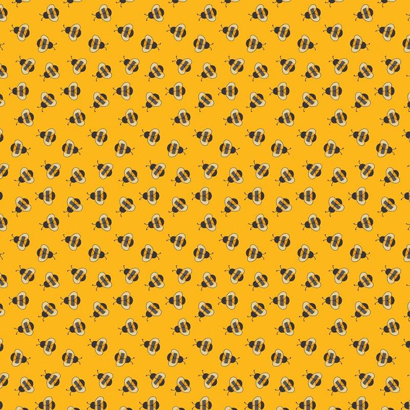 Fabricart Coleção Bee Buzz - Mini Bee Mostarda - 50cm X150cm