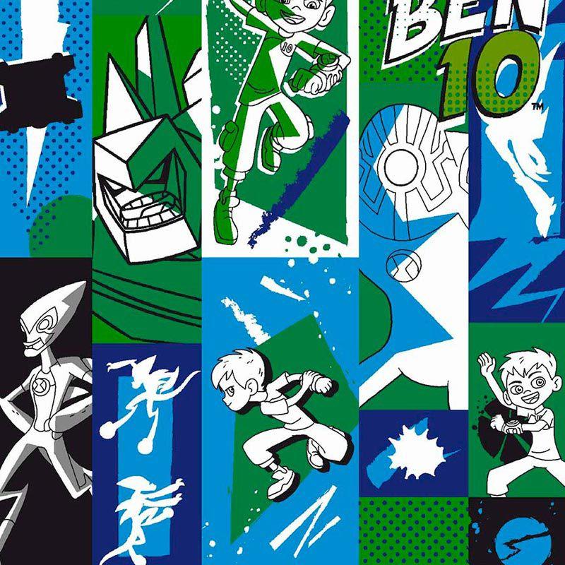 Fabricart Coleção Ben 10 - Estampa Ben 10 Quadrinhos 50cmX150cm - personagem