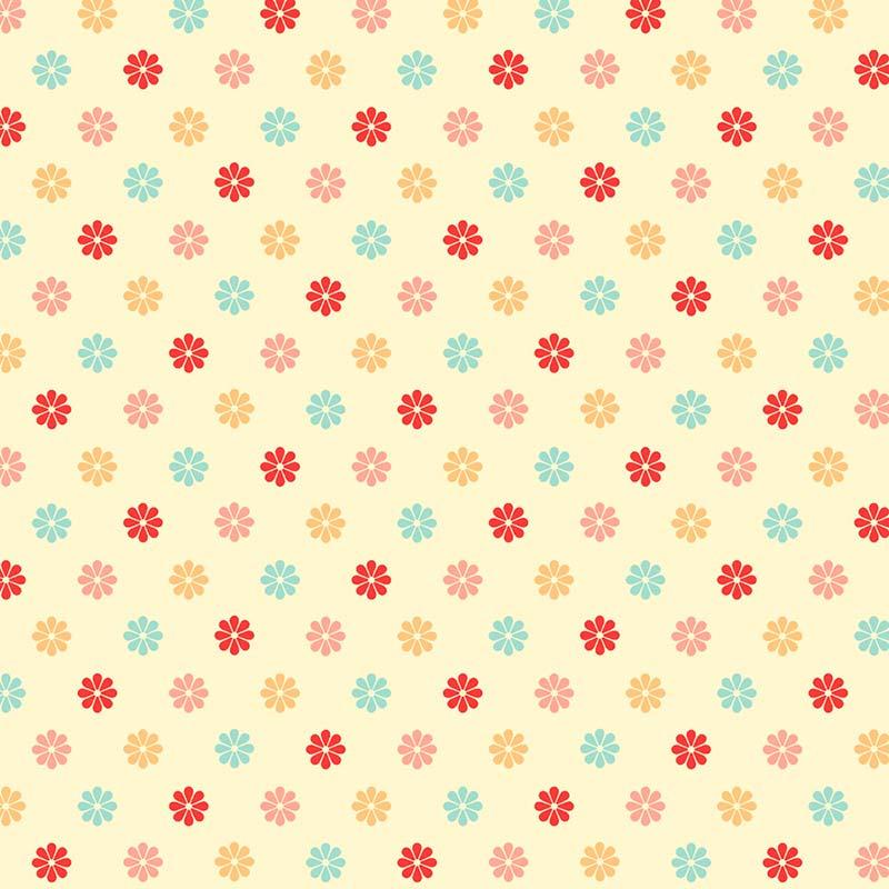 Fabricart Coleção Cherry Roses - Multi Color Little Flower - 50cm X150cm