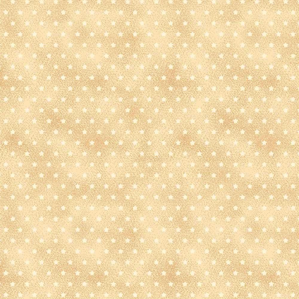 Fabricart Coleção Estrelinhas Country - Estrelinha Creme - 50cm X150cm