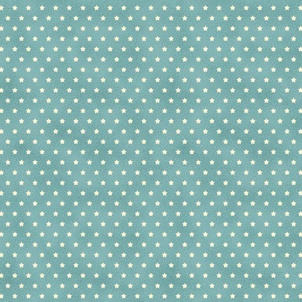Fabricart Coleção Estrelinhas Country - Estrelinha Tiffany - 50cm X150cm
