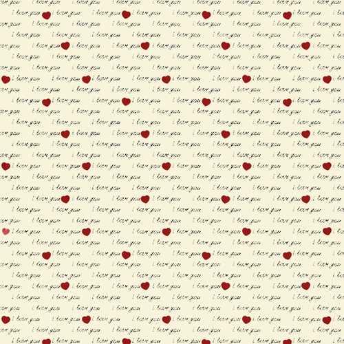 Fabricart Coleção I Love You - I Love You Creme - 50cm X150cm