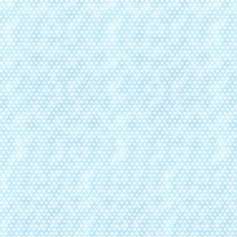 Fabricart Coleção Mini  Corações - Mini  Corações Azul - 50cm X150cm
