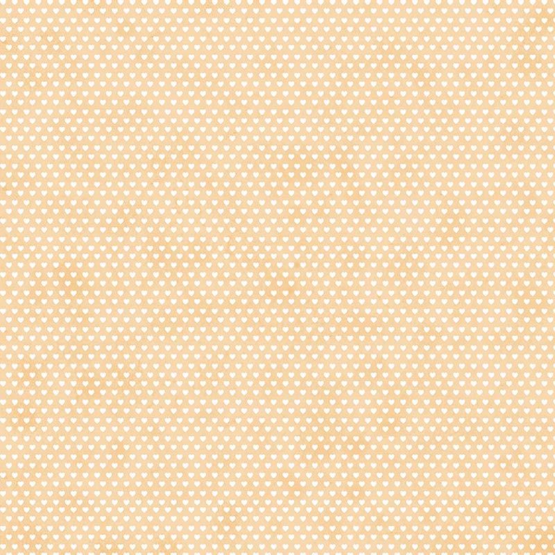 Fabricart Coleção Mini  Corações - Mini  Corações Creme - 50cm X150cm