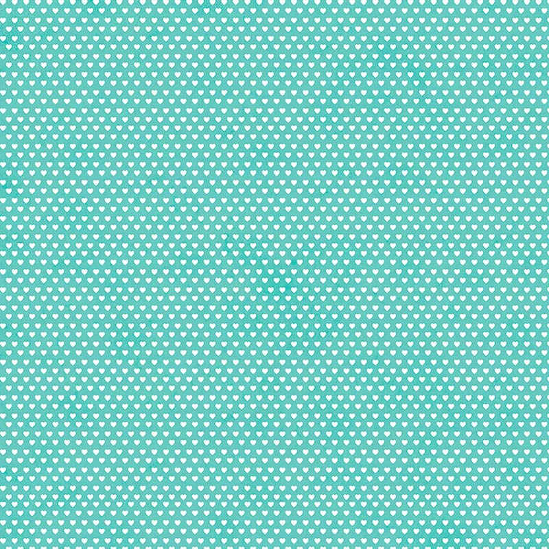 Fabricart Coleção Mini  Corações - Mini Corações Tiffany - 50cm X150cm