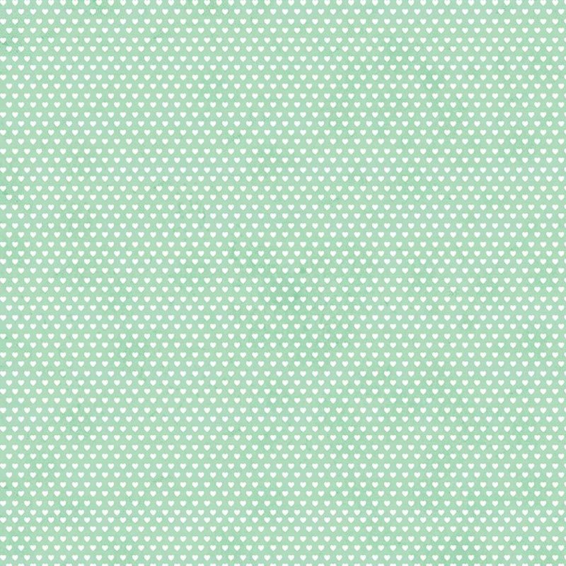 Fabricart Coleção Mini  Corações - Mini Corações Verde Claro - 50cm X150cm