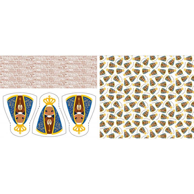 Fabricart Coleção Pillows - Nossa Senhora Aparecida - 60cm X150cm