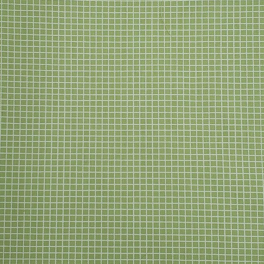 Fabricart - Geométricos - Quadradinhos Verde - 50cm X150cm