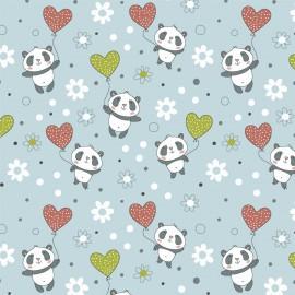 Fabricart - Coleção Pandinhas - Panda Balões - 50cm x 150cm
