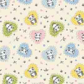 Fabricart - Coleção Pandinhas - Estampa Panda Coração - 50cm x 150cm