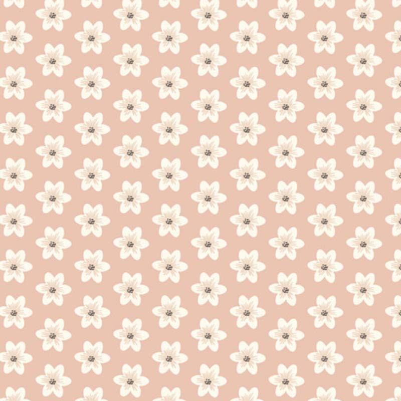 Fabricart Signature Coleção Botânica - Lírios Rosé - 50cm X150cm
