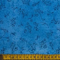 Fernando Maluhy - Arabesco Texturado Azul Jeans - 50cm X150cm