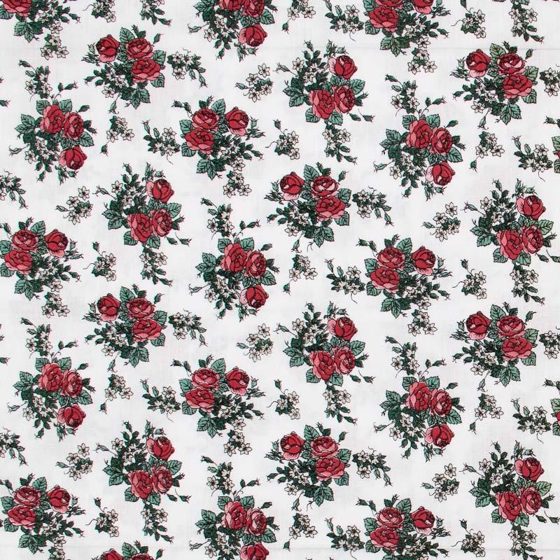 Fernando Maluhy - Arranjo Floral Vermelho Com Fundo Branco - 50cm X150cm