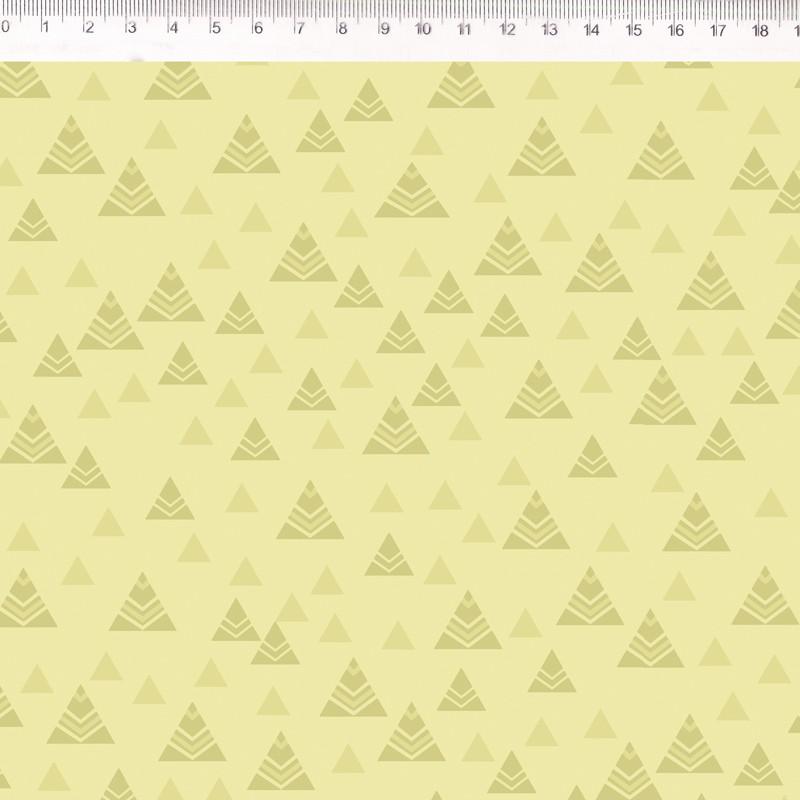 Fernando Maluhy - Coleção Andina - Textura Lhamas Fundo Amarelo - 50cm X 150cm