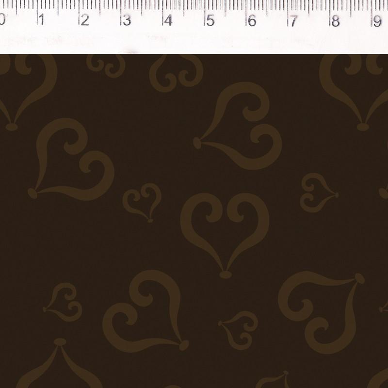 Fernando Maluhy - Coleção Baltimore - Portais Farevo - Coração Marrom - 50cm X150cm
