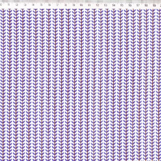 Fernando Maluhy - Coleção Botânica - Folhas Azul - 50cm X 150cm