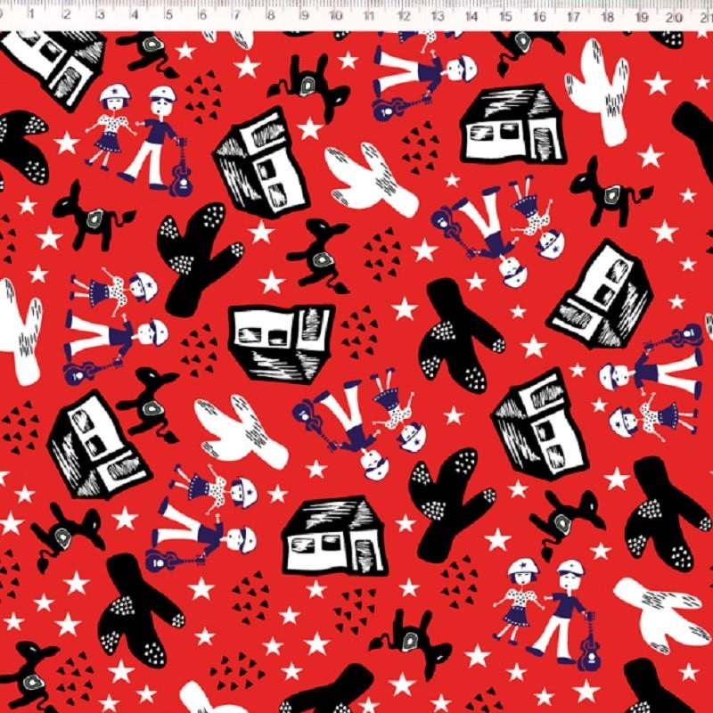 Fernando Maluhy - Coleção Cordel - O Sertão Fundo Vermelho - 50cm X 150cm