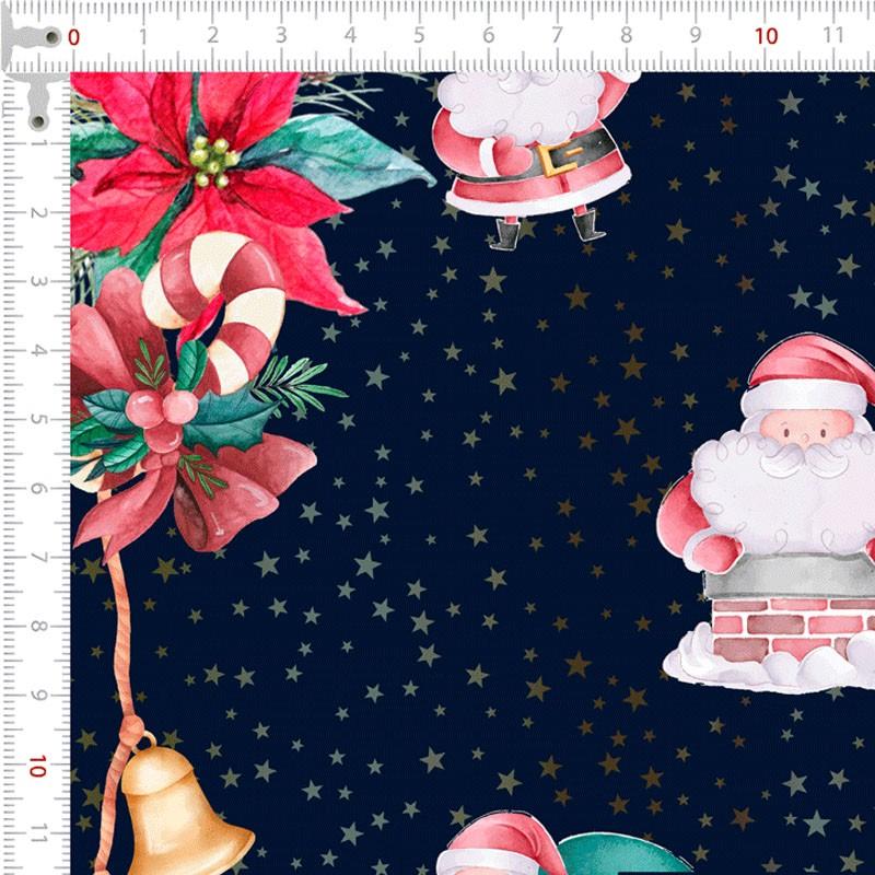 Fernando Maluhy - Coleção Digital Natal - Faixa Papai Noael 50cm x 150cm