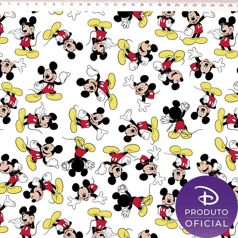 Fernando Maluhy - Coleção Disney - Mickey Mouse Fundo Branco -  50cm X 150cm