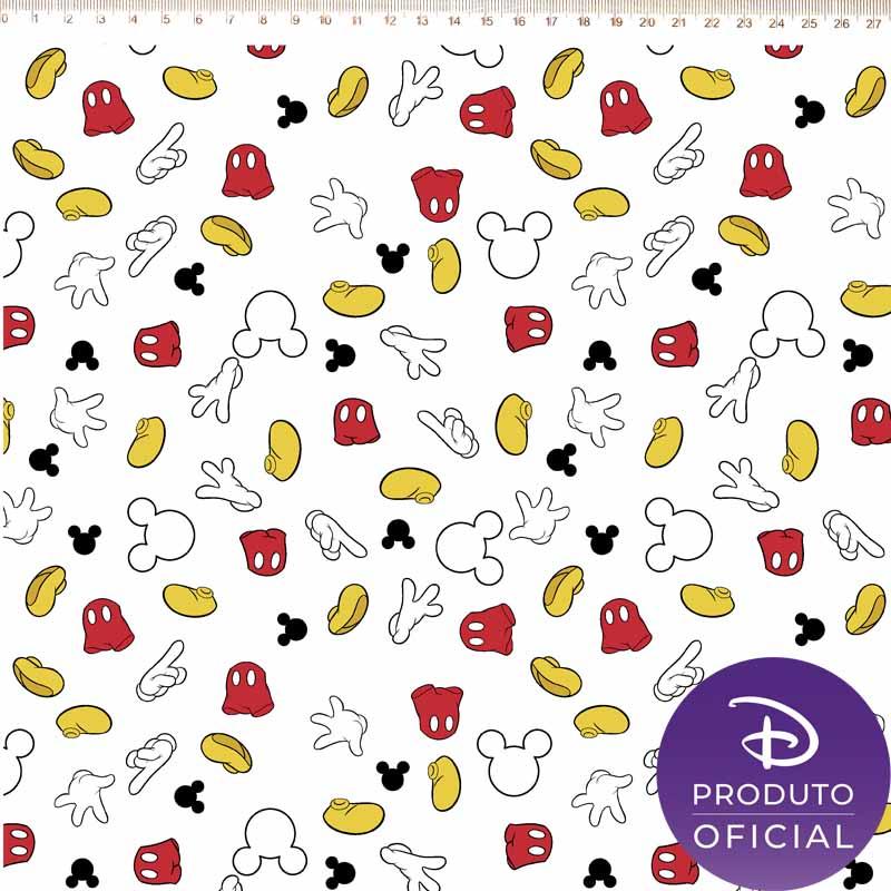 Fernando Maluhy - Coleção Disney - Guarda Roupa Mickey Fundo Branco -  50cm X 150cm