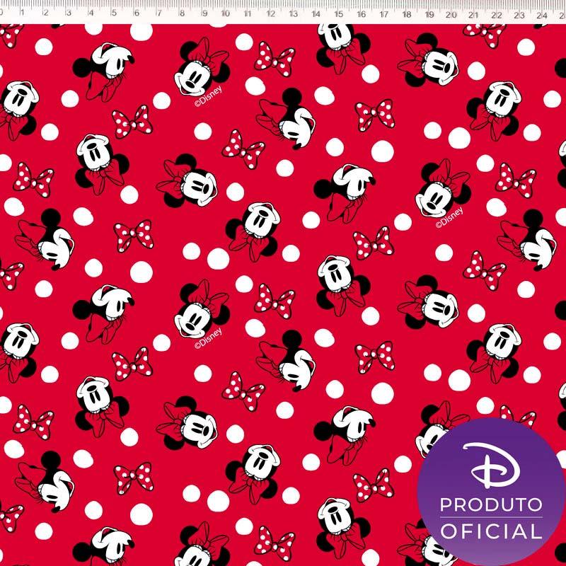 Fernando Maluhy - Coleção Disney - Minnie com Poá - 50cm X150cm