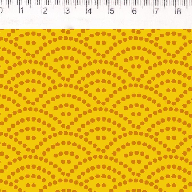 Fernando Maluhy - Coleção Filtro Dos Sonhos - Ondas Amarelo  - 50cm X150cm