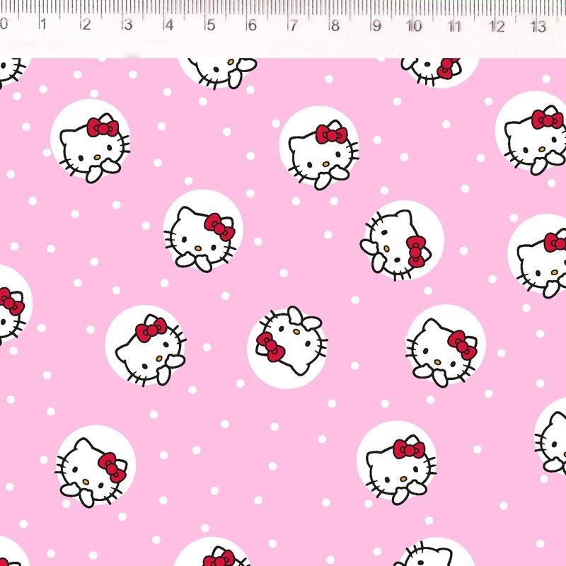 Fernando Maluhy - Coleção Hello Kitty - Dot Fundo Rosa - 50cm X150cm