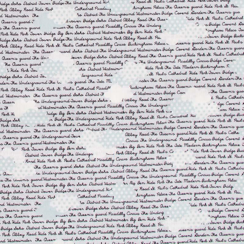 Fernando Maluhy - Coleção London - Nuvens Azul -  50cm X 150cm