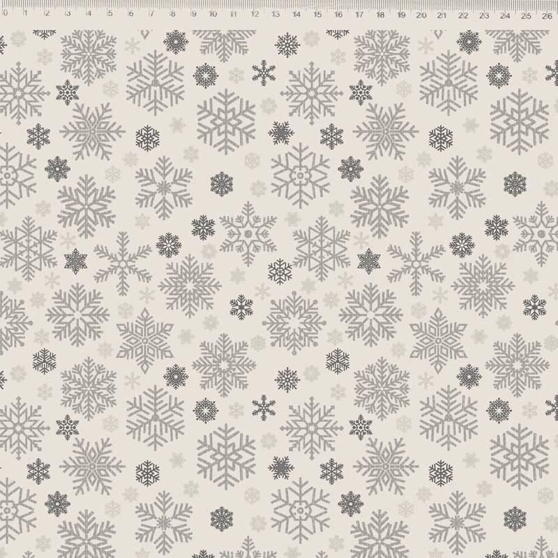 Fernando Maluhy - Coleção Natal - Flocos De Neve - 50cm X 150cm