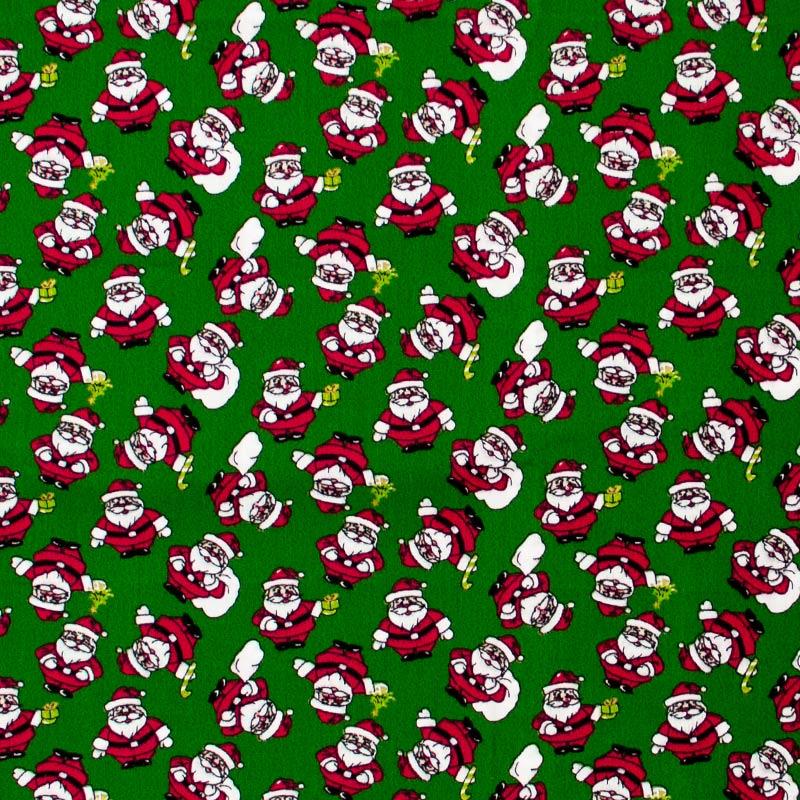 Fernando Maluhy - Coleção Natal - Papai Noel Fundo Verde - 50cm X150cm