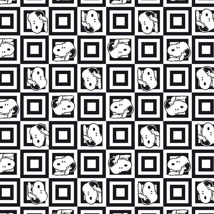 Fernando Maluhy - Coleção Snoopy  - Snoopy Black and White - 50cm X150cm