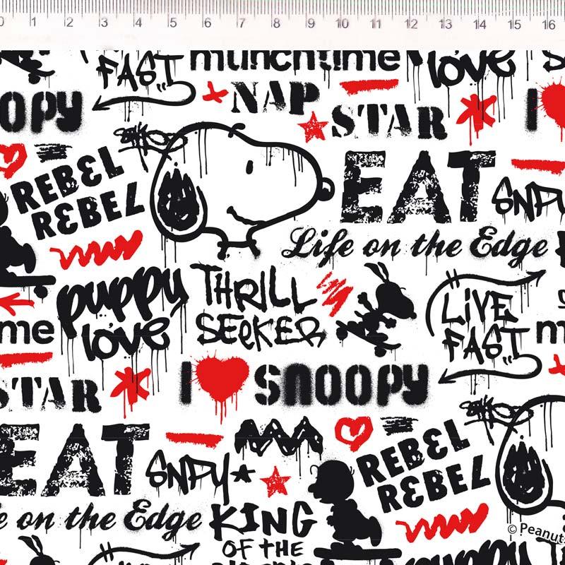 Fernando Maluhy - Coleção Snoopy  - Snoopy Grafiti - 50cm X150cm