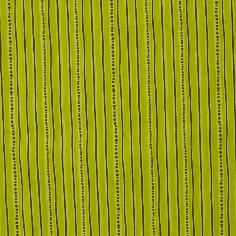 Fernando Maluhy - Listrado Marrom/Verde -  50cm X 150cm